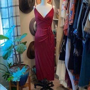 ASOS burgundy wrap dress